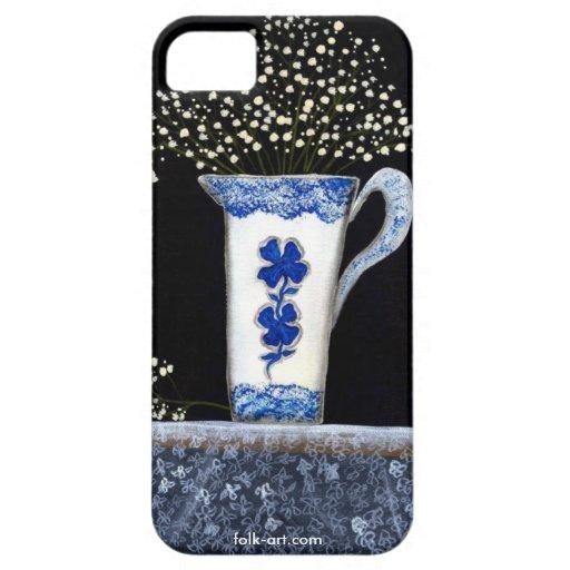 iPhone5 caso - todavía azul Spongeware de la vida Funda Para iPhone 5 Barely There