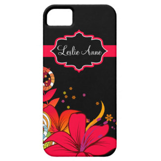 iPhone5 Girly Abstract Tropical Floral Monogram iPhone SE/5/5s Case