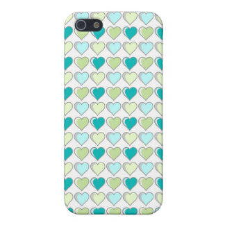 Iphone5 Hearts Green Cover version/Founds Verde He