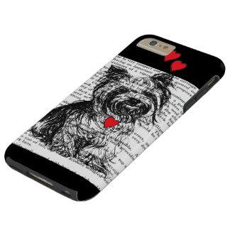 IPHONE6 AMOR DEL CASO YORKIE FUNDA DE iPhone 6 PLUS TOUGH