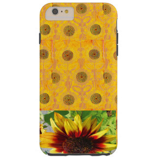 IPHONE6 BEAUTIFUL GOLDEN SUNFLOWERS TEXTILE PATTER TOUGH iPhone 6 PLUS CASE