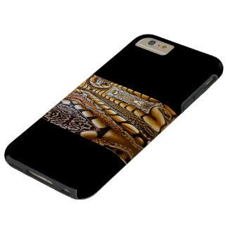 IPHONE6 CASO - DISEÑO EMPLUMADO DEL ARTE PARA FUNDA PARA iPhone 6 PLUS TOUGH