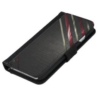 iPhone6 flipcase óptica genarbte schwarz-weiß-rot