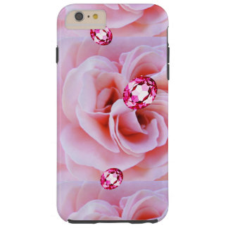 IPHONE6CASE PINK DIAMONDS AND ROSES TOUGH iPhone 6 PLUS CASE