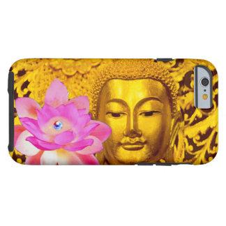 IPHONE6CASE - STUNNING GOLDEN BUDDHA & PINK LOTUS TOUGH iPhone 6 CASE