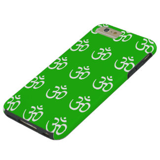 IPHONE6CASE WHITE OMS ON GREEN TOUGH iPhone 6 PLUS CASE