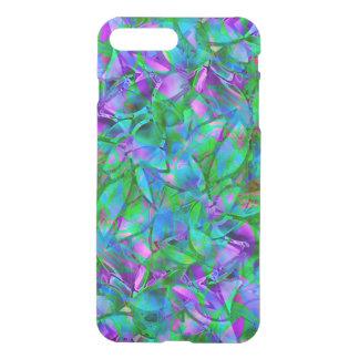 iPhone7 más el vitral abstracto floral del caso Fundas Para iPhone 7 Plus