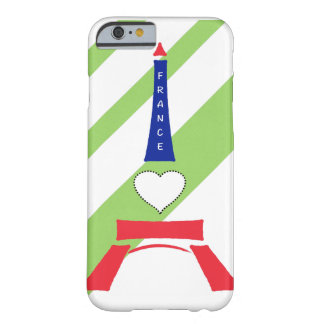 iPhone かーばーハートエッフェル塔 //puts heart Eiffel tower Barely There iPhone 6 Case