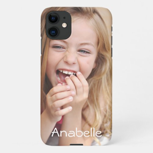 iPhone 11 case with photo and name