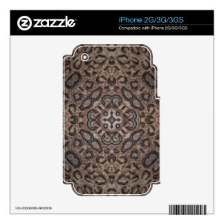 iPhone 2G/3G/3GS Skin (3D Leopard Kaleidoscope) Skins For iPhone 3