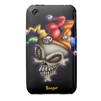 Iphone 3 BT - cráneo del bufón Case-Mate iPhone 3 Protector