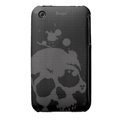 Iphone 3 BT - cráneo ennegrecido iPhone 3 Cárcasa