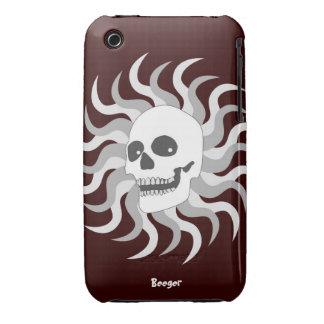 Iphone 3 BT - cráneo y llamas de Sun Case-Mate iPhone 3 Carcasas