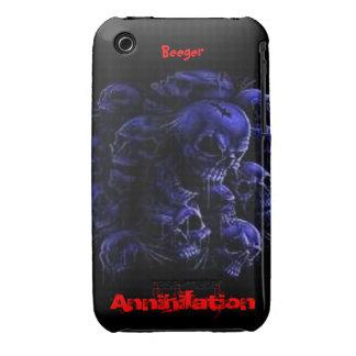 Iphone 3 BT - cráneos de la aniquilación iPhone 3 Cárcasa