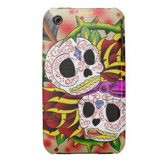 Iphone 3 BT - cráneos del azúcar (coloridos) iPhone 3 Case-Mate Coberturas