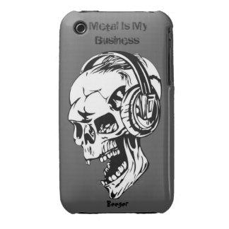 Iphone 3 BT - el metal es mi negocio Case-Mate iPhone 3 Fundas