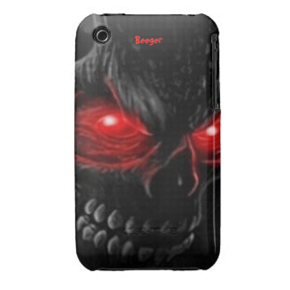 Iphone 3 bt - Flesh Skull with Glowing Eyes iPhone 3 Cover
