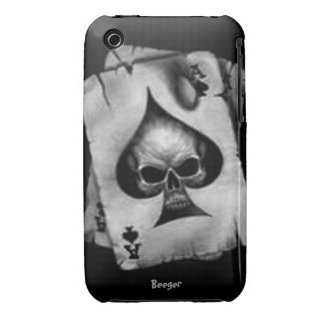 Iphone 3 bt - Skull of Spades Case-Mate iPhone 3 Case