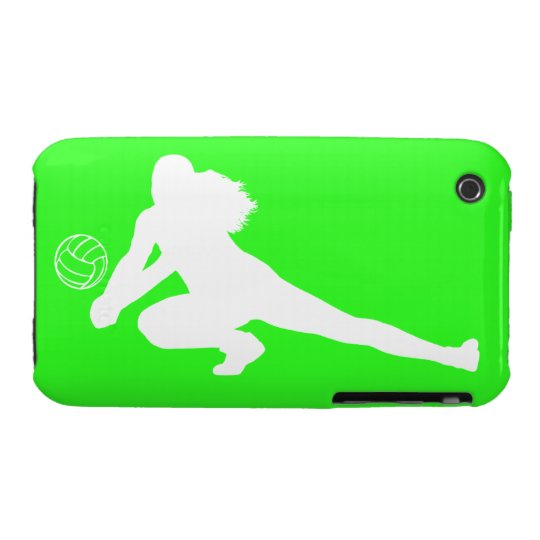 iPhone 3 Case-Mate Dig Silhouette White on Green
