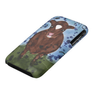 iPhone 3 Case with Watercolor Cow Painting