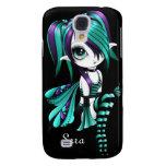 iPhone 3 de Lyssa Fae Funda-púrpura/aguamarina