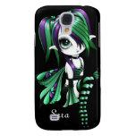 iPhone 3 de Lyssa Fae Funda-púrpura/verde