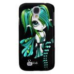 iPhone 3 de Lyssa Fae Funda-verde/aguamarina