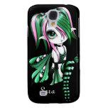 iPhone 3 de Lyssa Fae Funda-verde/rosa