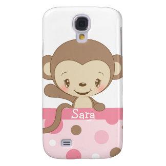 iPhone 3 del parque zoológico del mono Funda-rosad