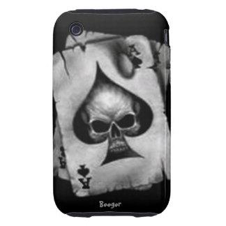 Iphone 3 duro - cráneo de espadas iPhone 3 tough protector