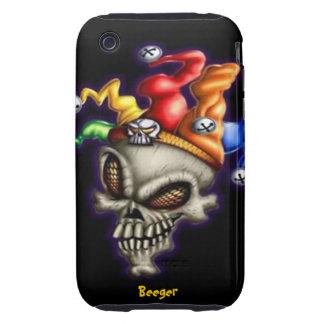 Iphone 3 duro - cráneo del bufón tough iPhone 3 carcasas