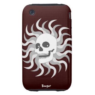iphone 3 duro - cráneo y llamas de Sun iPhone 3 Tough Protector