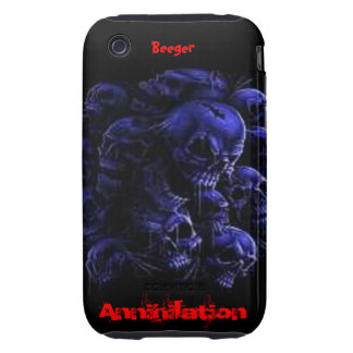 Iphone 3 duro - cráneos de la aniquilación iPhone 3 tough fundas