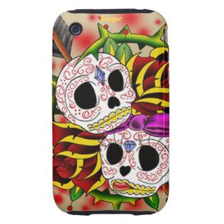 Iphone 3 duro - cráneos del azúcar (coloridos) iPhone 3 tough protector