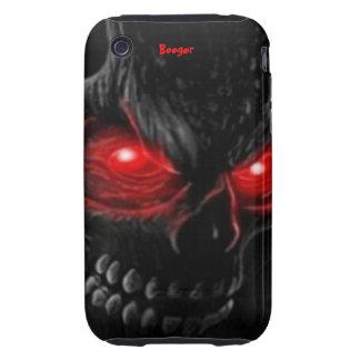 Iphone 3 duro - el cráneo de la carne con brillar tough iPhone 3 cárcasa