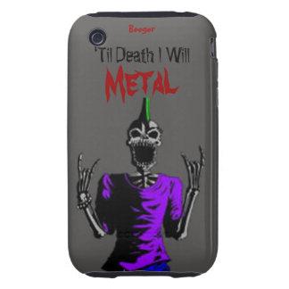 Iphone 3 duro - hasta muerte Metal Funda Though Para iPhone 3
