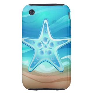 iPhone 3 estrellas de mar del caso iPhone 3 Tough Funda