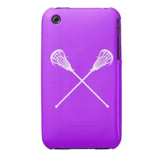 iPhone 3 palillos de LaCrosse púrpuras Case-Mate iPhone 3 Protector