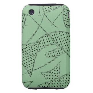 iPhone 3/S Tuff Case ATOMIC BOOMERANG 50s SEAFOAM