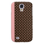 iPhone 3 Speck Case Brown with Pink Polka Dots Samsung Galaxy S4 Case