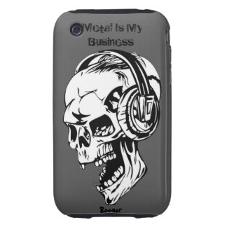 Iphone 3 tough - Metal Is My Business Tough iPhone 3 Cover