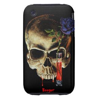 Iphone 3 tough - Skull Blood & Roses Tough iPhone 3 Case