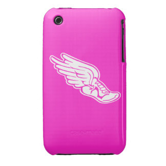 iPhone 3 Track Logo White on Pink iPhone 3 Case-Mate Case