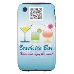 iPhone 3G/3Gs Case Template Beachside Bar iPhone 3 Tough Case