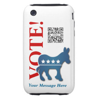 iPhone 3G/3Gs Case Template Democrat Donkey