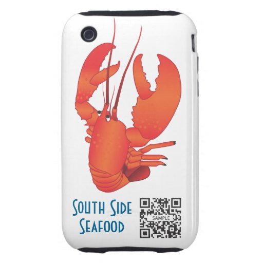 iPhone 3G/3Gs Case Template Seafood Restaurant Tough iPhone 3 Covers