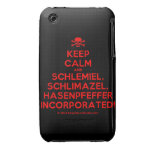 [Skull crossed bones] keep calm and schlemiel, schlimazel, hasenpfeffer incorporated!  iPhone 3G/3GS Cases iPhone 3 Cases