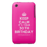 [Crown] keep calm it's your 30th birthday  iPhone 3G/3GS Cases iPhone 3 Cases