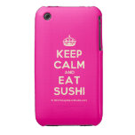 [Crown] keep calm and eat sushi  iPhone 3G/3GS Cases iPhone 3 Cases