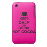 [Cup] keep calm and drink hot cocoa  iPhone 3G/3GS Cases iPhone 3 Cases
